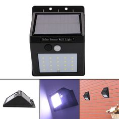 Solar sensor light 12 leds waterproof security lights energy saving 20 leds mozeypictures Gallery