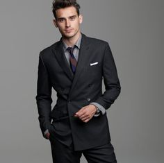 I think double-breasted suite are under-rated Big Men, Double Breasted, Suit Jacket, Suits, My Style, Jackets, Fashion, Down Jackets, Moda