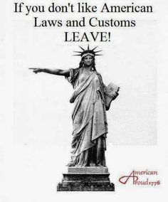 If you don't like American laws and customs.....LEAVE