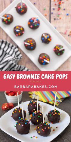 Brownie Cake Pops, Chocolate Cake Pops, No Bake Cake Pops, Cake Brownies, Cake Pops How To Make, Diy Cake Pop, Cake Pops Recipe Video, Easy Desserts, Dessert Recipes