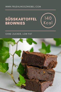 Mein Rezept für gesunde Brownies aus Süßkartoffeln. Gesüßt wird mit leckeren Datteln und Agavendicksaft - die Brownies sind also ohne Haushaltszucker und perfekt fürs Clean Eating geeignet. #fitnessrezept #gesundbacken