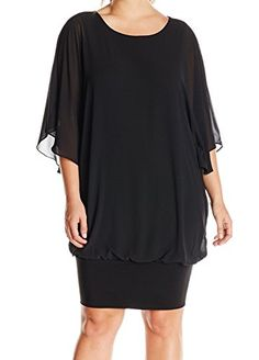 New Trending Formal Dresses: MSK Womens Plus-Size Plus Size Woven Blouson Dress with Knit Band, Black, 1X. MSK Women's Plus-Size Plus Size Woven Blouson Dress with Knit Band, Black, 1X  Special Offer: $23.99  488 Reviews Women's woven blouson dress with cascading flutter sleeve and knit band hem.Blouson dressKnit band