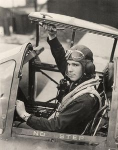 U.S. pilot 2nd Lieutenant J. A. Force prepares to take off from an operational station in England in a P-38 fighter plane (December 2, 1942).