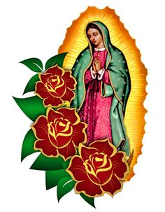 GUADALUPANA PRIMAVERAL Mexican Artwork, Mexican Folk Art, Mary Magdalene And Jesus, Virgin Mary Art, Mexican Art Tattoos, Sketch Tattoo Design, Mexican Crafts, Deco Boheme, Blessed Mother Mary