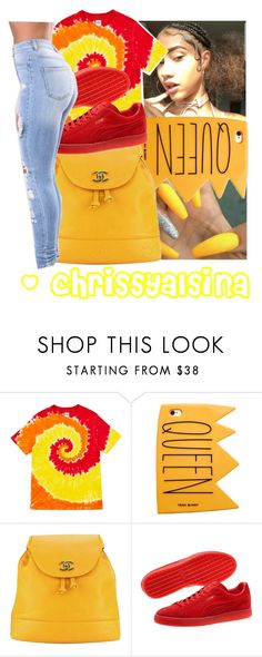"""Red 🌹 yellow 🌟 orange 💛 outfit"" by chrissyalsina ❤ liked on Polyvore featuring beauty, Opening Ceremony, Chanel and Puma"