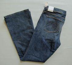 "New Gap 1969 Curvy Boot cut Jeans 32 14 R 33"" Medium Stretch Denim Low rise 2010 #GAP #BootCut"