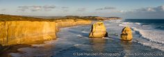 """""""Twelve Apostles I"""" (275x102cm) panoramic travel landscape photograph (Giclée) by Tom Hanslien on Artfinder. A panoramic view of some of the Twelve Apostles rock formations along the Great Ocean Road in Victoria, Australia. Had the pleasure of visiting Australia for the first time in early 2016 and did a bit of a road-trip. Our first sightseeing after leaving Melbourne was to head down along the scenic Great Ocean Road. Really enjoyed the panoramic views of this majestic natural phenomenon."""