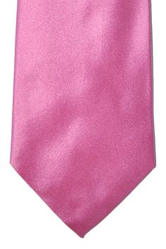 Solid pink tie by Duchamp hand made in England, Thick satin silk makes a great knot. Reg. $180 Now $110 Pink Ties, Silk Satin, Knots, How To Make, Handmade, Hand Made, Buttons, Handarbeit
