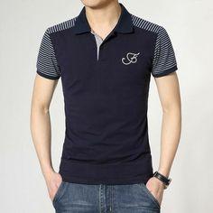 Mens Polo T Shirts, Polo Tees, Short Sleeve Polo Shirts, Boys T Shirts, Camisa Polo, Men Looks, Mens Clothing Styles, Men Casual, Menswear