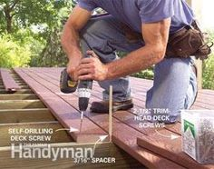 Build a No-Rot, No-Maintenance Deck, Building Design Plan, Building A Deck, Building Plans, Cool Deck, Diy Deck, Deck Framing, Concrete Footings, Laying Decking, Rooftop Patio
