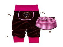 *SET Nickihose+Tuch* Lederhose, Gr.56-86, pink Winter Mode, Baby Sweaters, Sewing For Kids, Winter Outfits, Gym Shorts Womens, Beanie, Swimwear, Pink, Babys