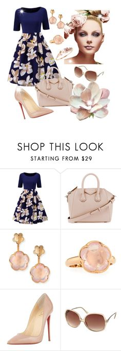 """""""Untitled #458"""" by gabbylara ❤ liked on Polyvore featuring WithChic, Finders Keepers, Givenchy, Pasquale Bruni, Christian Louboutin and Chaumet"""