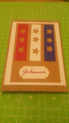 Glückwunschkarte USA Innen befindet sich ein Umschlag für die Reisekasse ;-)