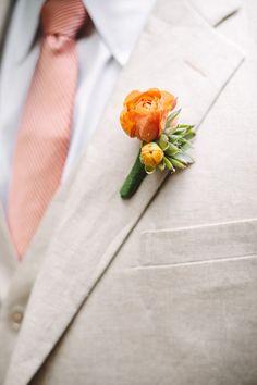 Orange Wedding Flowers Wedding Flowers Photos on WeddingWire Groomsmen fashion and boutenniere