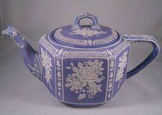 Antique Lavender Wedgwood Moriage Tea Pot.