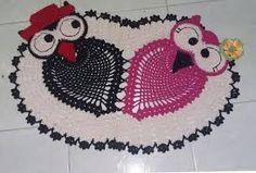 Resultado de imagem para coruja de croche preto e vermelho