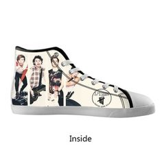 cc14cf926f Aliexpress.com   Buy Top Hot Music Band 5 Seconds of Summer 5 Sos Custom  Black High Top Canvas Running Shoes For Women Girl Ladies Free Shipping  from ...