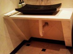 Hazards of vessel installations: 1 of 4  Floating counter = exposed plumbing