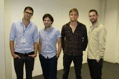 Keane: Tim Rice-Oxley, Jesse Quin, Tom Chaplin & Richard Hughes
