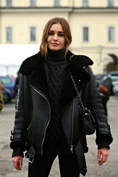 Nadja Bender at Roberto Cavalli, Milano