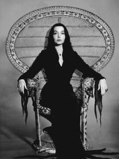 1 Sets of Morticia Addams Cosplay Costume, Wig, Props and Accessories - Cosplay FU United Kingdom