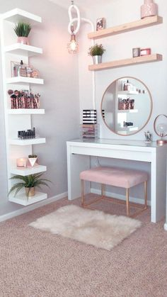 dream rooms for teens * dream rooms ; dream rooms for teens ; dream rooms for adults ; dream rooms for women ; dream rooms for couples ; dream rooms for adults bedrooms Home Decor Shelves, Wall Shelf Decor, Cute Room Decor, Cheap Room Decor, Flower Room Decor, Cute Office Decor, Room Ideas Bedroom, Room Decor Bedroom Rose Gold, Teen Bedroom Designs