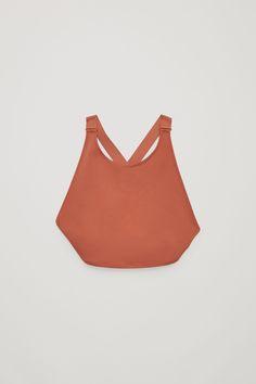 COS image 1 of High round-neck bikini top in Terracotta
