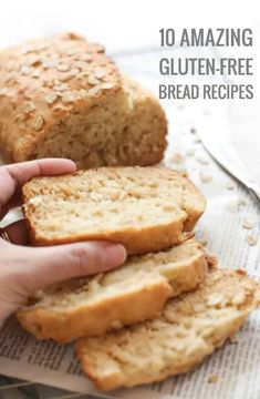 10 Easy and Delicious Gluten-Free Bread Recipes. keep these handy to make over and over again! | dishbydish.net #glutenfreebreadrecipes #breadrecipes Gluten Free Bread Recipe Easy, Cookies Gluten Free, Gluten Free Cooking, Dairy Free Recipes, Gluten Free Breads, Wheat Free Bread Recipes, Gluten Free Buckwheat Bread, Rice Flour Recipes, Buckwheat Recipes