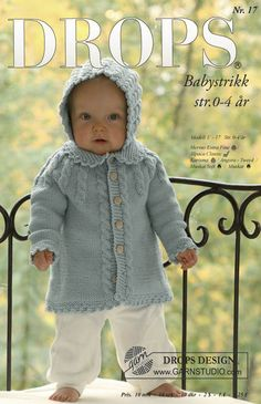 All Drops Baby Patterns! Baby Knitting Patterns, Baby Sweater Knitting Pattern, Knitting For Kids, Baby Patterns, Free Knitting, Crochet Patterns, Drops Design, Crochet Bebe, Knit Crochet