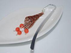 Uncinetto segnalibro filo Swarovski Crystal Pearl di MyasCreations