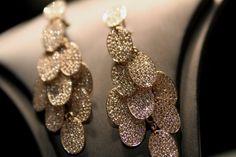 orecchini in oro rosa e diamanti Bartorelli Maison