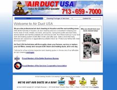Air Duct USA- This website was custom designed and custom programmed with the latest in PHP and CSS. #webdesign #AirDuctUSA #HyperlinksMedia