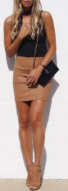 #summer #cool #outfits | Black + Camel