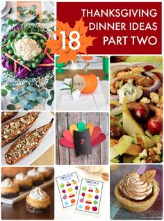 18 Thanksgiving Dinner Ideas Part Two. Such a great list of thanksgiving decor and recipes for your special day!