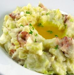 Colcannon - A traditional Irish potato-based dish served on Halloween/Samhain but also excellent served on St. Paddy's!