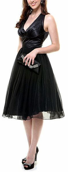Black Tulle Party Dress #lbd