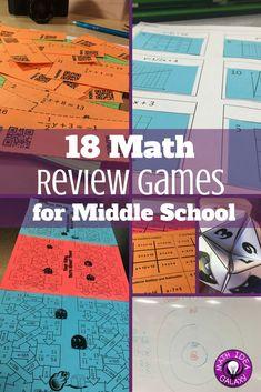ideas for math games middle school Math College, Junior High Math, Math Test, 7th Grade Math Games, Algebra Games, Adoption, Secondary Math, Math Projects, Review Games