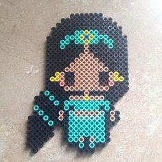 Jasmine (Aladdin) perler beads by meganmorphine - Original design by… Melty Bead Patterns, Pearler Bead Patterns, Perler Patterns, Beading Patterns, Peyote Patterns, Perler Bead Templates, Diy Perler Beads, Perler Bead Art, Pixel Beads