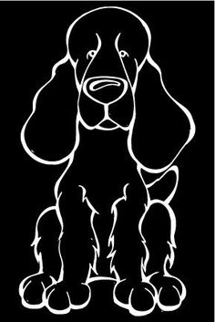 Field Spaniel Decal Dog