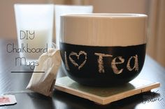 Quick and easy tutorial for DIY chalkboard mugs! Check out www.livingYOURcreative.com for more DIY tutorials!