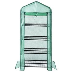 080ee8e3e1e Outdoor Garden 4 Tier Mini Greenhouse Reinforced Replacement Cover ONLY  135g m²