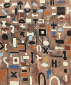 Adolph Gottlieb. Composition. 1955