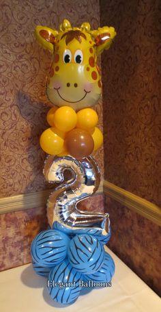 giraffe themed 2nd birthday