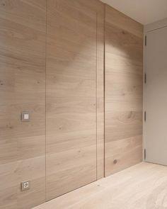 Wardrobe Door Designs, Wardrobe Design Bedroom, Hidden Doors In Walls, Home Interior Design, Interior Architecture, Modern Wall Paneling, Flush Doors, Wood Panel Walls, Wall Cladding
