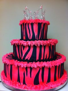 Diva cake pink and black
