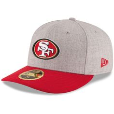San Francisco 49ers New Era Change Up Low Profile 59FIFTY Fitted Hat - Heathered Gray/Scarlet
