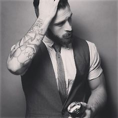 Attractive bearded men wearing suits...love.