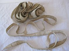 Gold braid vintage French metallic ecclesiastical by Histoires on Etsy 2 meter length, $20.00 #gold braid #histoires #etsy