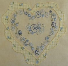 ~ Yellow & Blue Heart ~ by Jenny of ELEFANTZ....