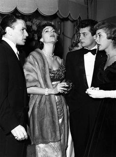 L for legends: Frank Sinatra, Ava Gardner, Tony Curtis & Janet Leigh